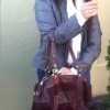 Leather Duffle Bag Douglas Chocolate Brown Color